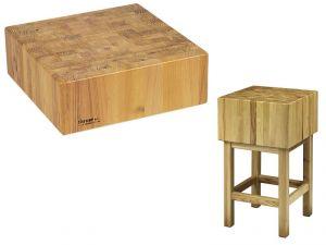 CCL1774 Bloc en bois 17cm avec tabouret 70x40x90h