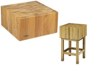 CCL2564 Bloc en bois 25cm avec tabouret 60x40x90h