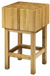 CCL3566 Bloc en bois de 35 cm avec tabouret 60x60x90h