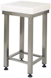 CCP8002 8cm polyethylene block with 70x50x88h stainless steel stool