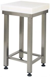 CCP8004 8cm polyethylene block with 70x70x88h stainless steel stool