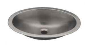 LX1310 Lavabo ovale in acciaio inox 380X280X125 mm - LUCIDO -