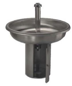 LX1590 Lavabo circolare INOX con 6 rubinetti base di sostegno diam.1000x800 mm