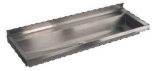 LX1720 Canalone avec plié 1000x400x122 mm AISI 304 mm AISI 304 - SATIN