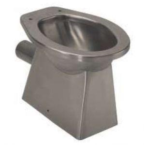 LX3010 Toilette en acier inoxydable LX3010 avec égout mural 520x365x375 mm - SATIN -