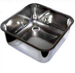 LV50/50/30 Vasca di lavaggio in acciaio inox dim. 500x500x300h a saldare