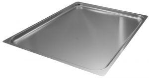 FNC2/1P020 Teglia  Gastronorm 2/1 h20 in acciaio inox AISI 304 bordo piano