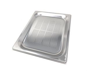 GST1/2P020F Gastronorm Container 1 / 2 h20 perforated stainless steel AISI 304