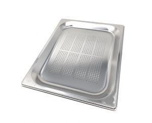 GST1/2P020F Récipient Gastronorm 1 / 2 h20 perforée en acier inox AISI 304