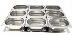 TIMGS19 Telaio divisorio Gastronorm 1/1 inox per 9 contenitori GN 1/9