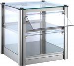 VKB32N Neutral countertop display cabinet 2 TOPS in stainless steel sheet