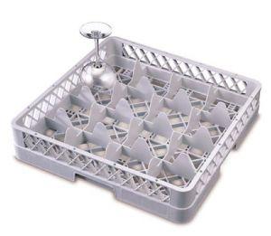 B16 Base 16 compartiments 50x50x9h grise pour verres diam. 11 cm