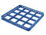 TRIA16 Elevacion 16 compartimentos para cesta para lavavajillas 50x50 h4,5 azul