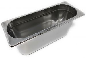 GST2/8P150 Gastronorm container 2/8 h150 in stainless steel AISI 304